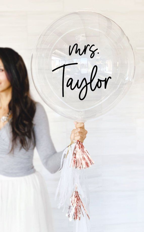 Mrs Balloons Personalized Bridal Shower Decorations Bridal Shower Balloons Bridal Shower Photo Prop Wedding Photo Prop (EB3316P)
