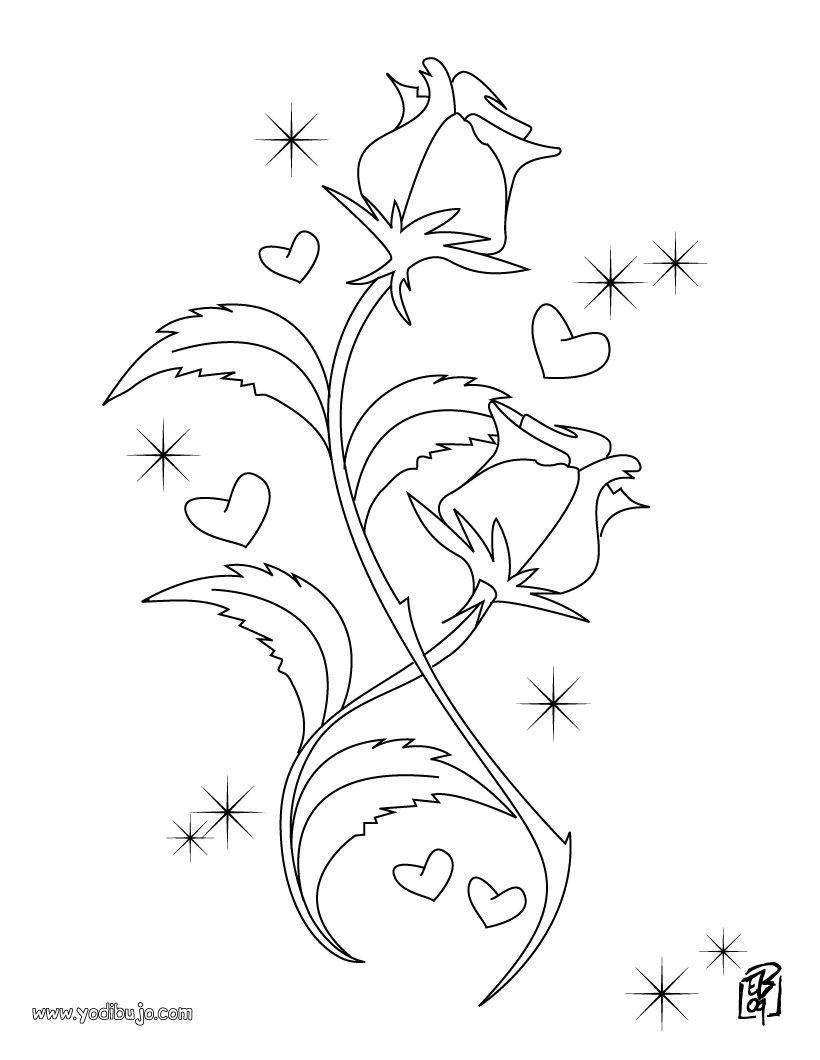 dibujo flores colorear san valentin source_xrhjpg 8201060