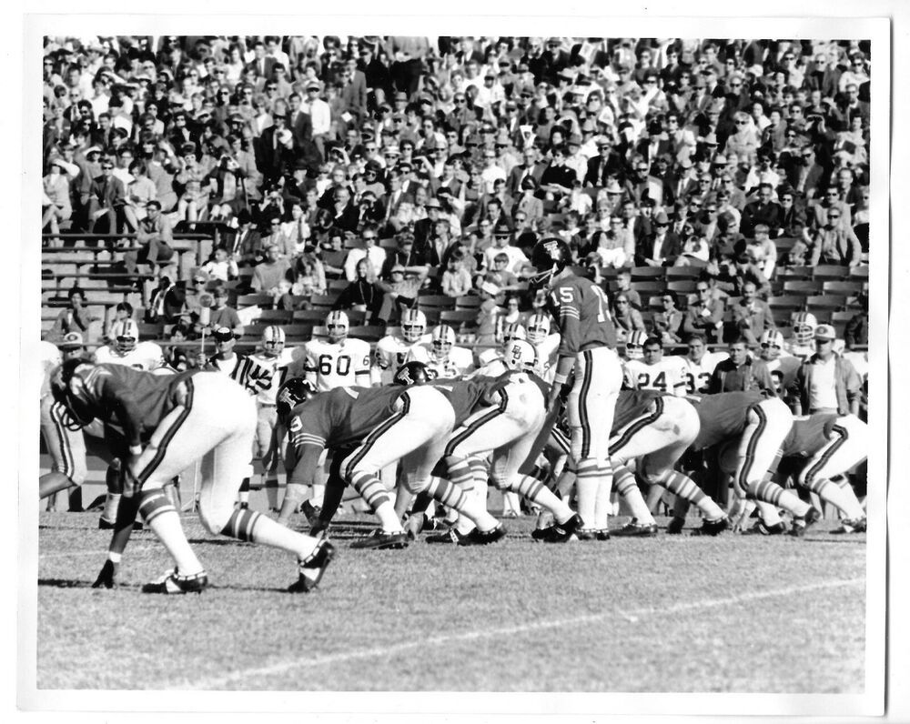 Late 1960's Black & White Texas Tech Football Pre Snap