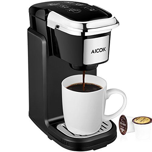 Aicok Single Serve Coffee Maker Coffee Machine with Removable Cover
