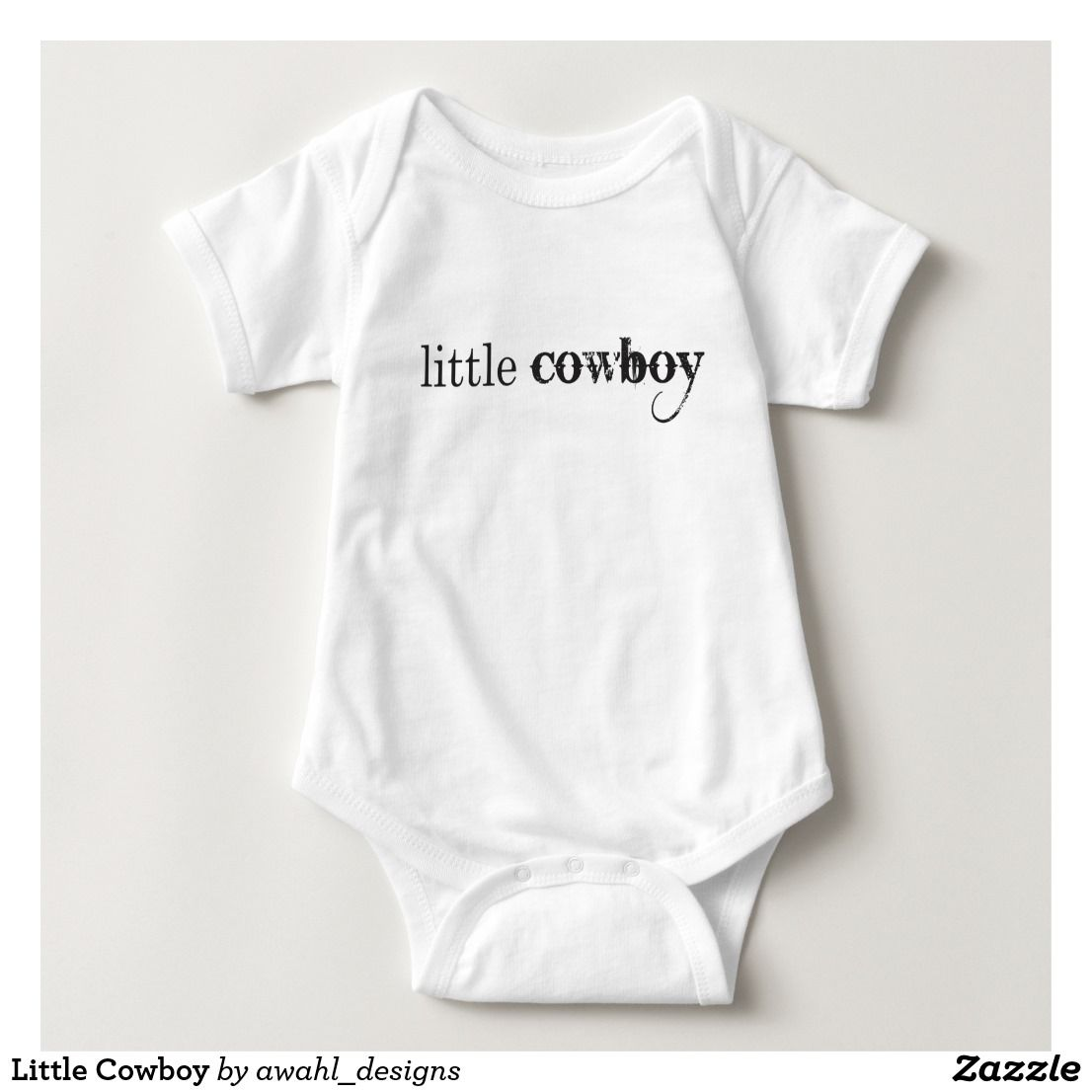 Little Cowboy Baby Bodysuit He already spits. You know he's destined to be a cowboy.