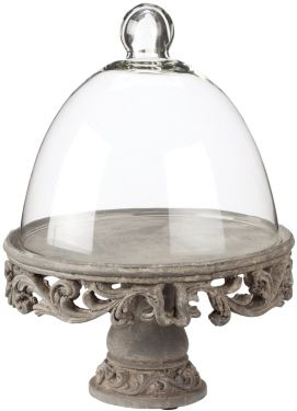Large Pedestal Cloche Glass Dome Bell Jar Beautiful Kitchens Cloche Domes