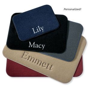 Personalized Dog Food Mat $40