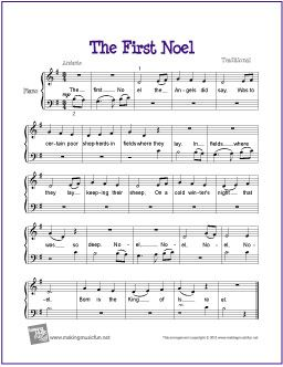 The First Noel Christmas Piano Music Free Sheet Music Piano