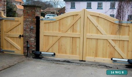 Yorkshire Electric Gates Installs High Quality Wooden Gates With