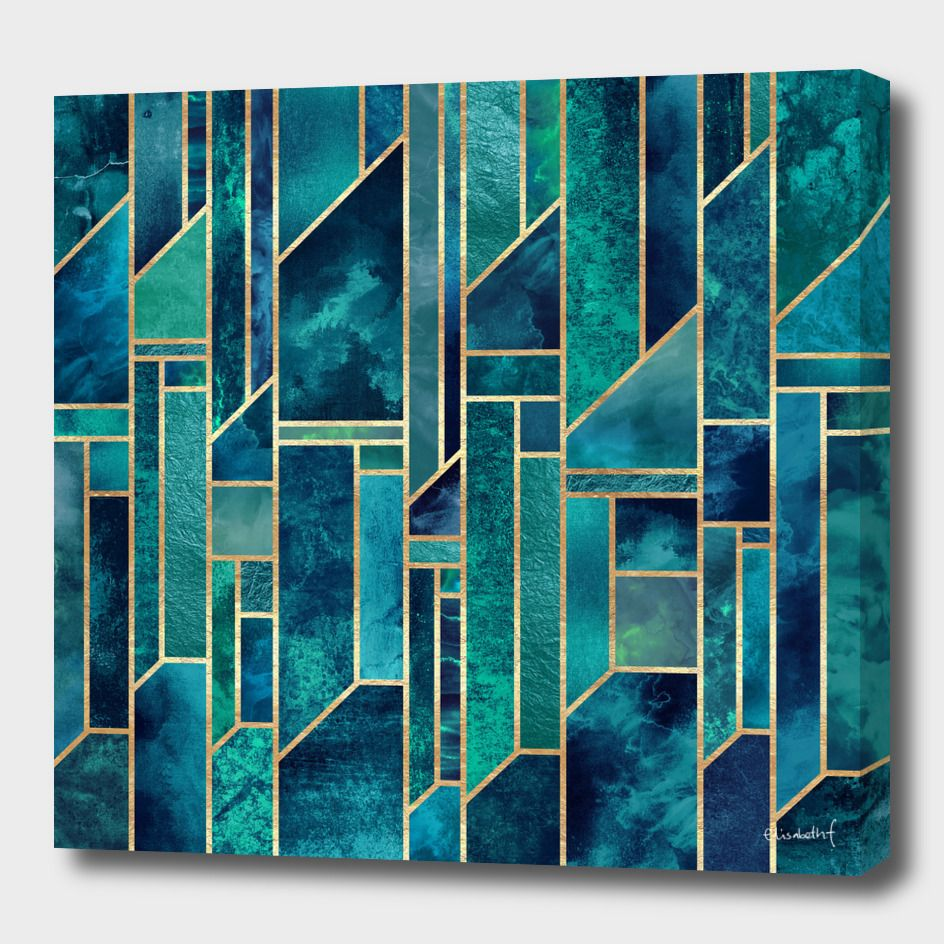 Blue Skies Canvas Print By Elisabeth Fredriksson Numbered Edition From 59 Curioos Art Deco Wall Art Abstract Sky Art