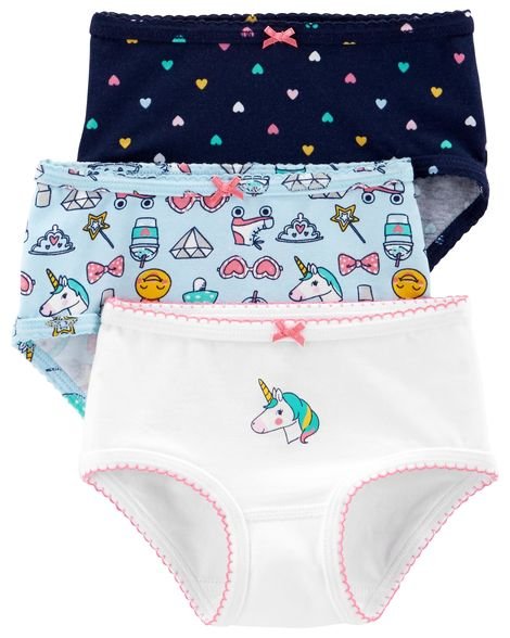 New Carter/'s 3 Pack Underwear Girls Panties NWT 3T 4T 5T 6 6X 8 12 14 Princess