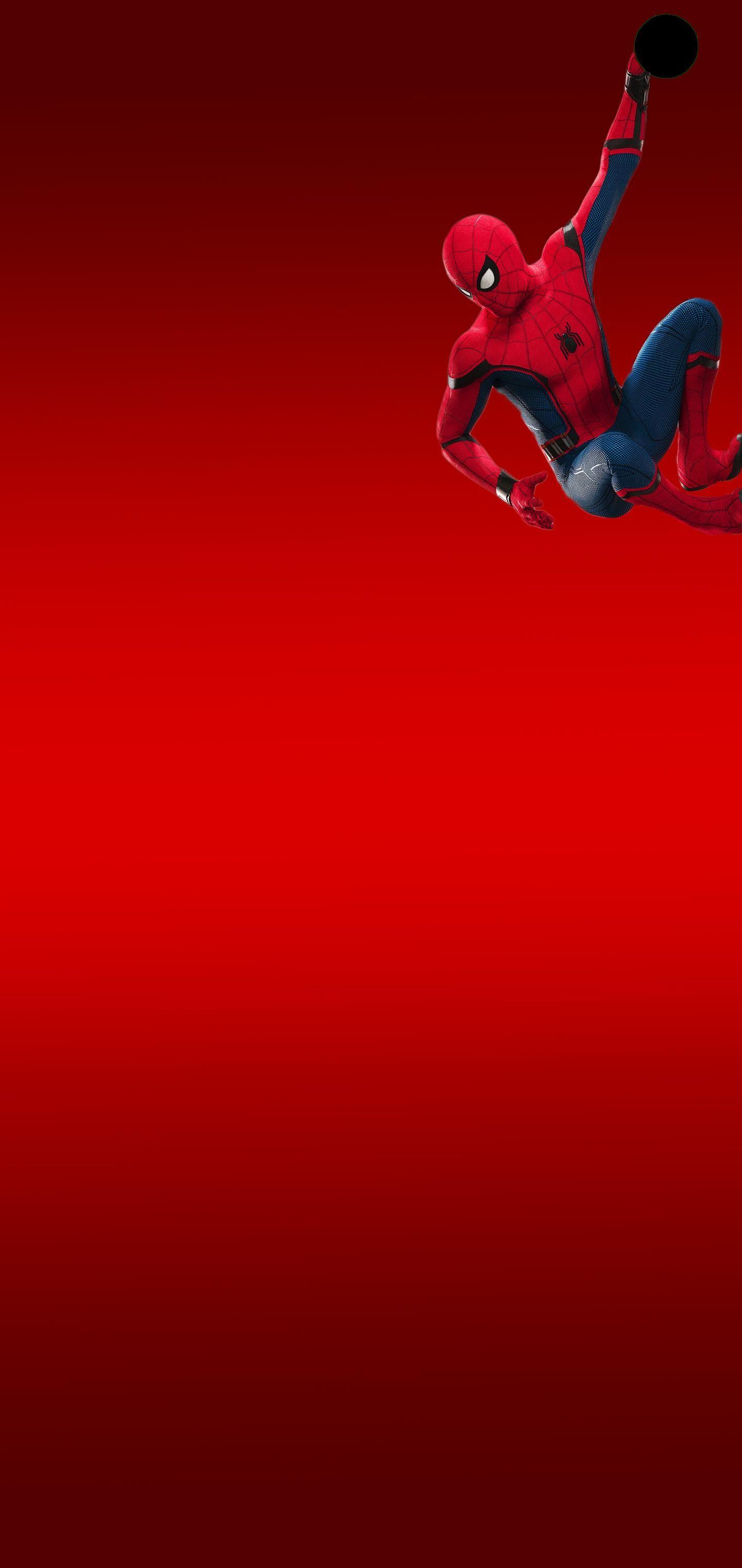 Spider-Man Hangs On 2 by JohnnySinsHDTV Galaxy S10 Hole-Punch Wallpaper