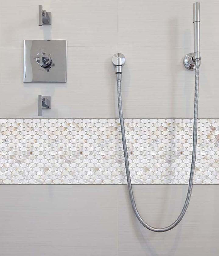 Tile Mother Pearl. Tile Mother Pearl Shower Liner Wall Backsplash ...