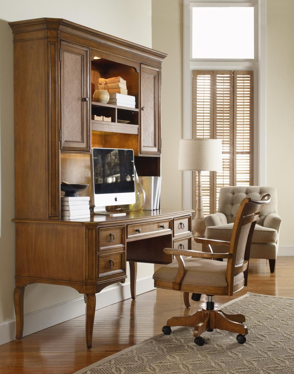 Summerwind Desk & Hutch, another great look for a home office