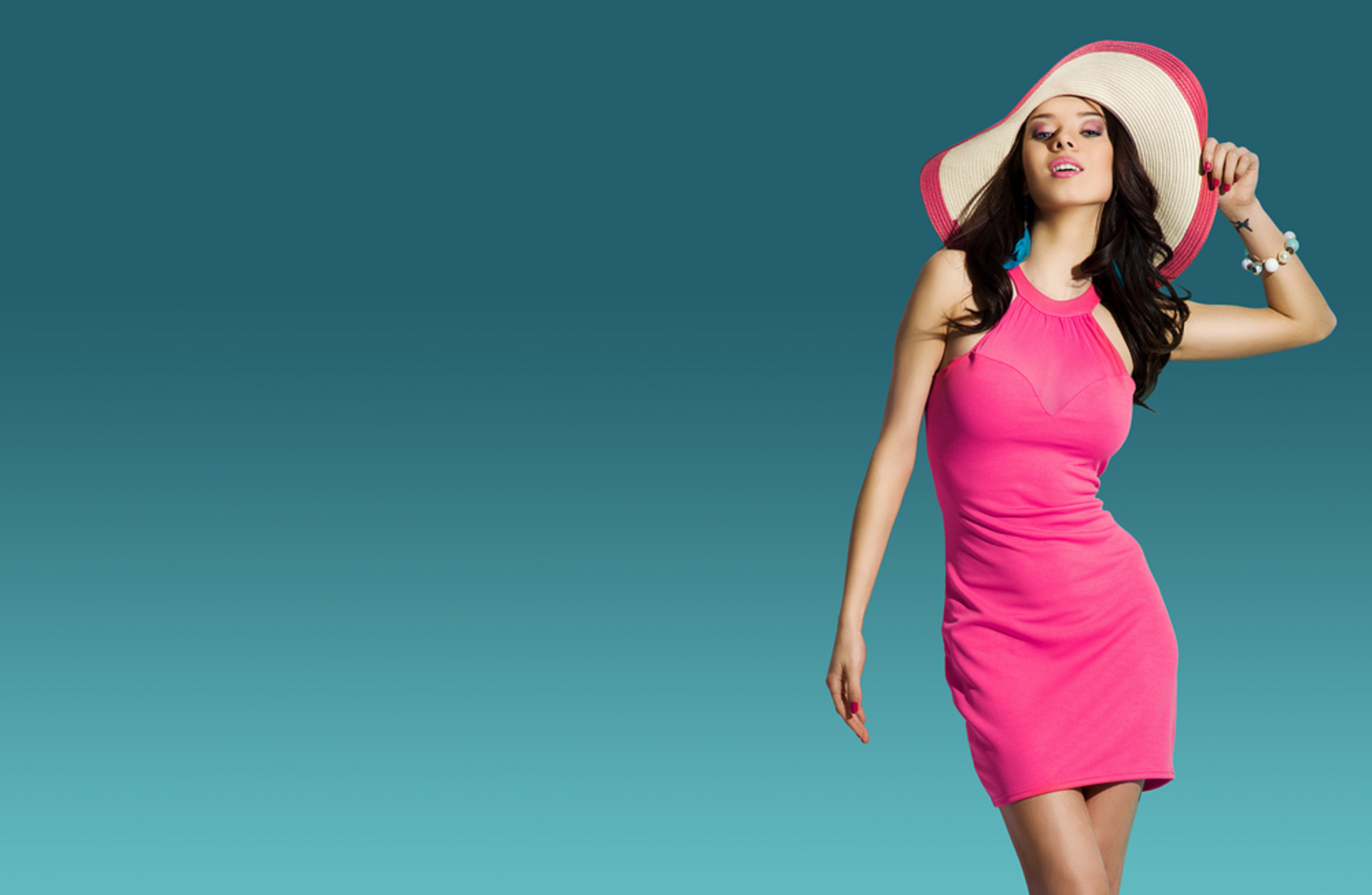 Perfect Shape Girl Model Girl Fashion Girl With Hat