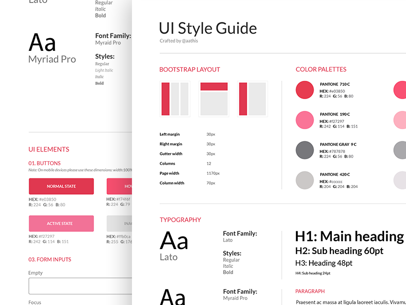 Style Guide E Commerce App Web Style Guide Style Guides Style Guide Design