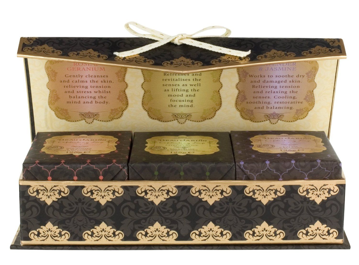 This Beau Jardin Soap Collection contains 3 luxury soaps in a ...
