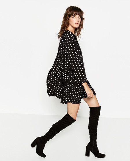 853b980309 El vestido con lunares de Zara es el nuevo hit de la temporada (y sí ...