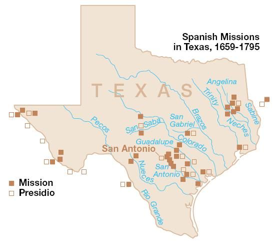 Map Of Spanish Missions In Texas Early Spanish Missions in Texas | Texas history, Texas adventure