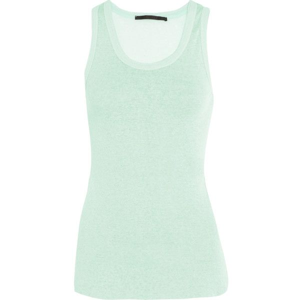 Haider Ackermann Cotton and cashmere-blend tank (6.330 RUB) ❤ liked on  Polyvore