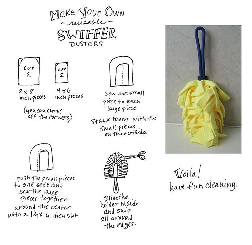 Super easy to make.  Saves lots of dough and eco-friendly too.  I love my reusable Swiffer Dusters
