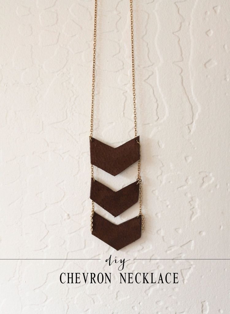 diy chevron necklace — the painted arrow