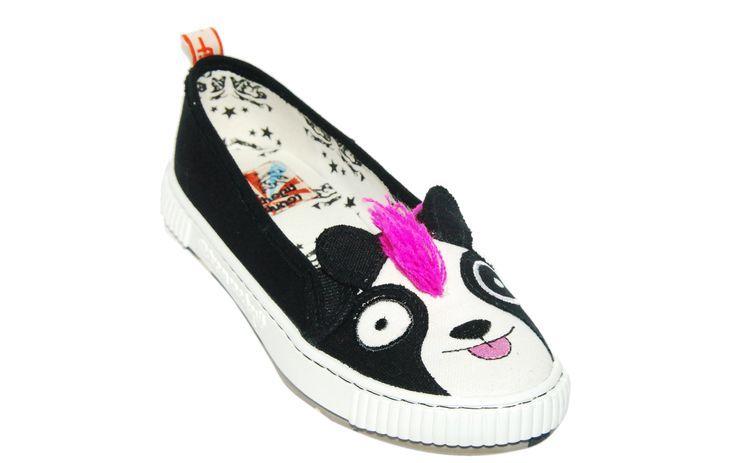 New Tigerbear Republik Sneaky Beastie Animal Imprints Sneaker in Panda - Size 7 or 8.5 -  40