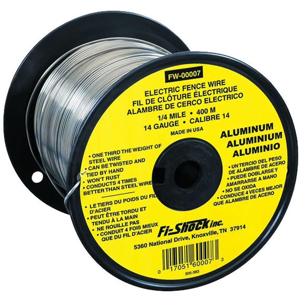 Fi Shock 1 4 Mile 14 Gauge Aluminum Wire Fw 00007t The Home Depot In 2020 Electric Fence Wire Fence Wire