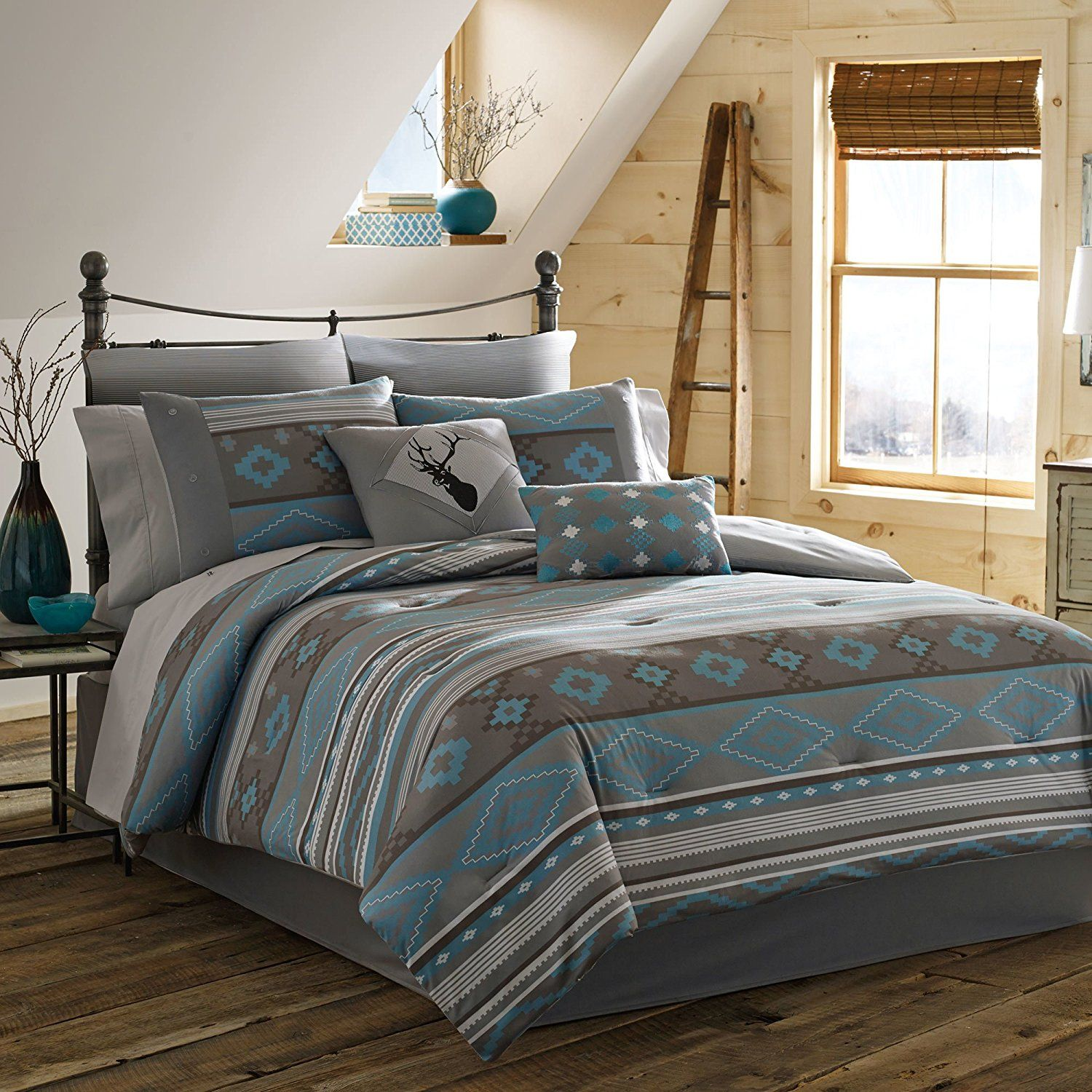 leather gold rustic rush bedding pin faux cabins cabin comforters western
