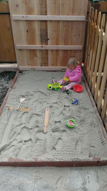 Diy sandbox with cover - just need 2x4's or 4x6's & then gravel & lawn edge & tarp for cover ~ rocks to keep it tight...