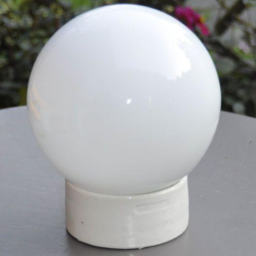 kugel lampe wand decken leuchte e27 porzellan fassung opal. Black Bedroom Furniture Sets. Home Design Ideas