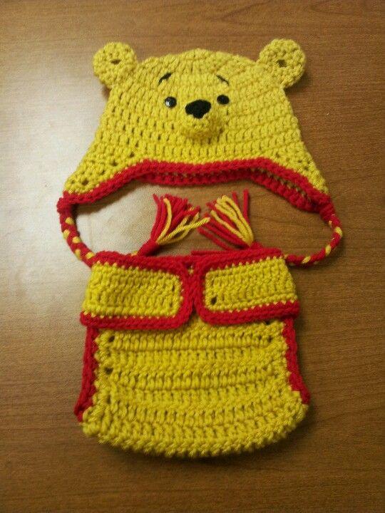 Winnie The Pooh tobaggan and diaper set.