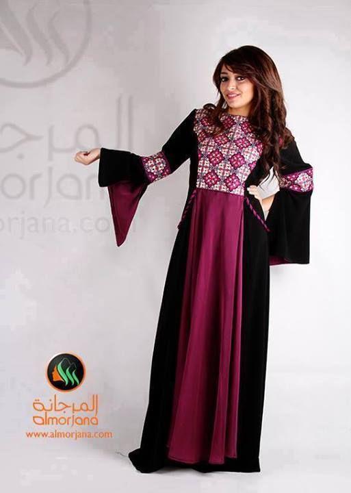 تطريز فلاحي على عباية جلابية Palestinian Embroidery African Dress Traditional Dresses Dresses