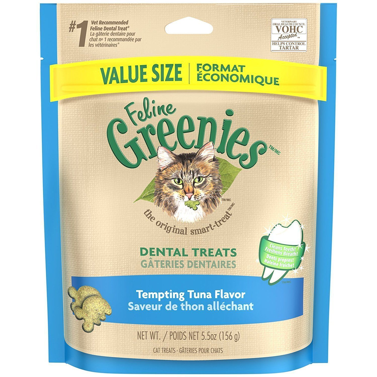 Dental Treats For Cats Tempting Tuna Flavor 5 5 Oz 6 Pack Want Additional Info Click On The Image This Is Dental Treats Cat Treats Natural Cat Treats