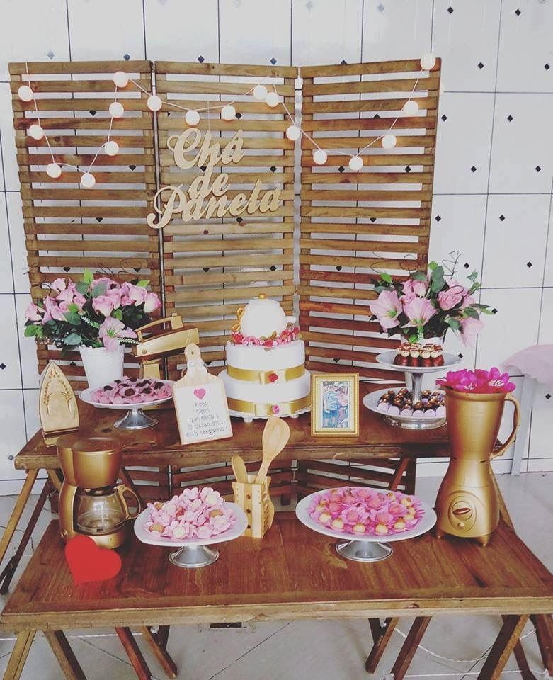 Cha de casa nova cha da du em 2019 Chá de cozinha ideias, Chá de langerie decoraç u00e3o e  -> Decoração De Cha De Panela Vermelho E Branco Simples