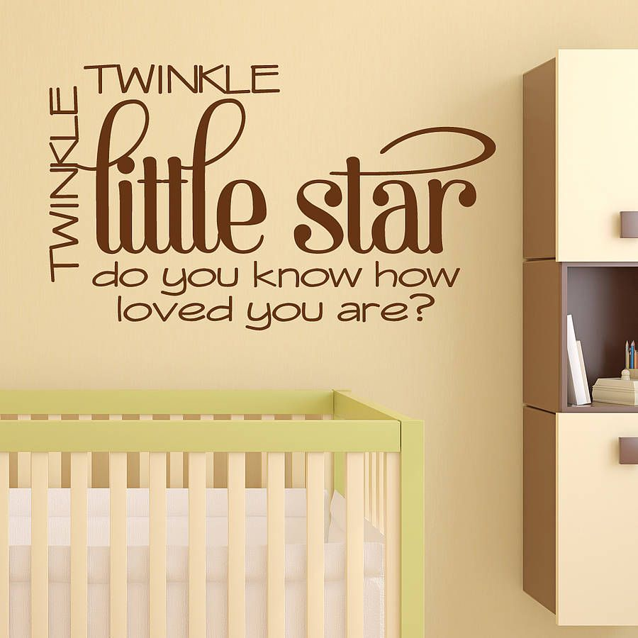 Twinkle Little Star Quote Wall Sticker   Star quotes, Quote wall and ...