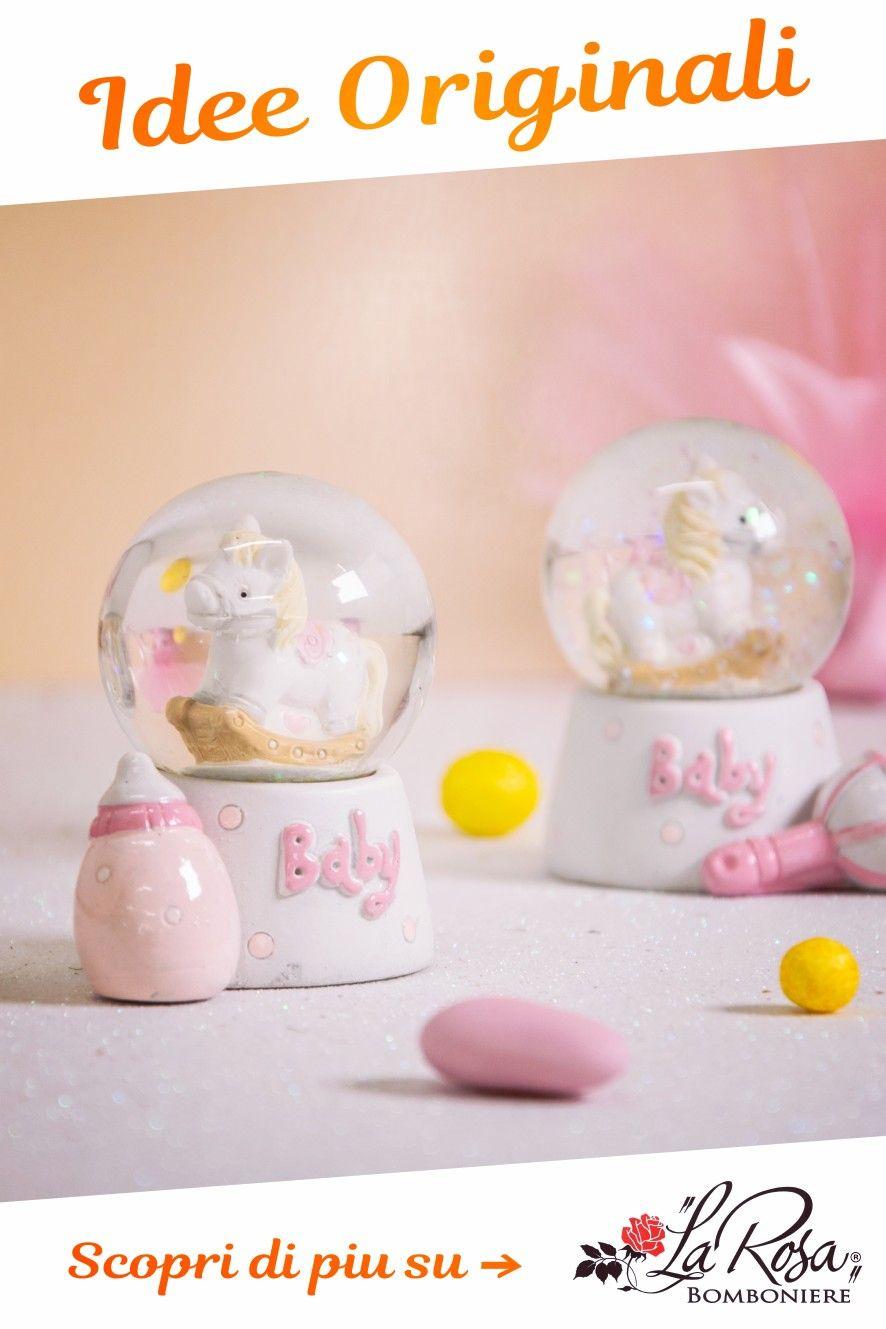 Bomboniere Originali Battesimo Bimba Idea Sfera Con Cavallino A Dondolo By La Rosa Nel 2020 Bomboniere Battesimo Nascita