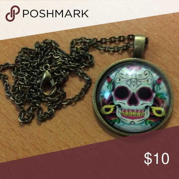 Sugar Skull Day of the Dead Necklace Sugar Skull Day of the Dead Necklace Jewelry Earrings