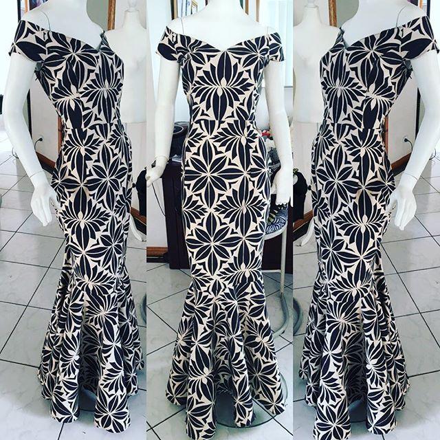 Polynesian style dresses