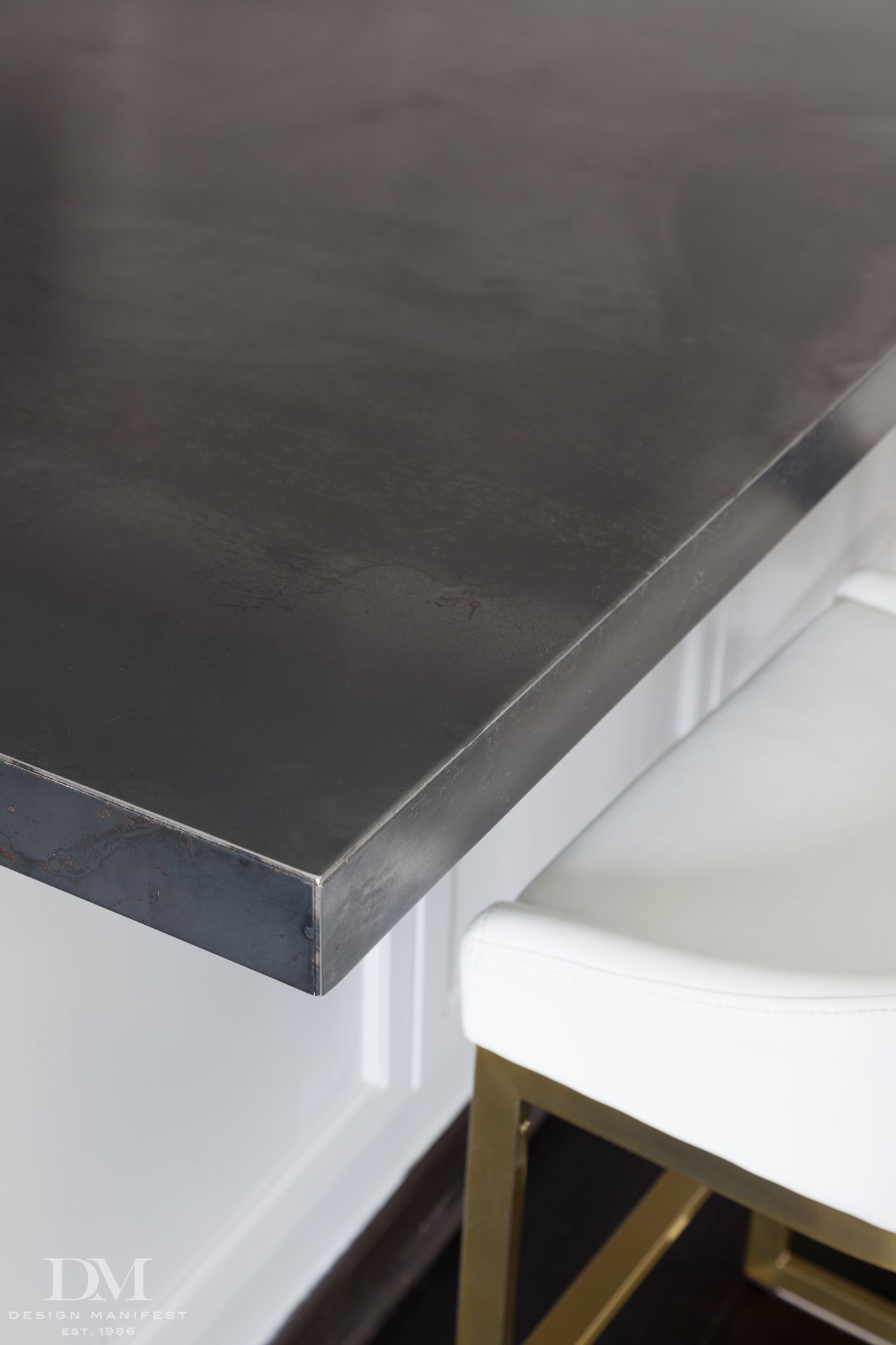 Natural Steel Countertop   This Fits Over The Granite Worktop To Give Her A  More Contemporary Look Without Spending A Fortune