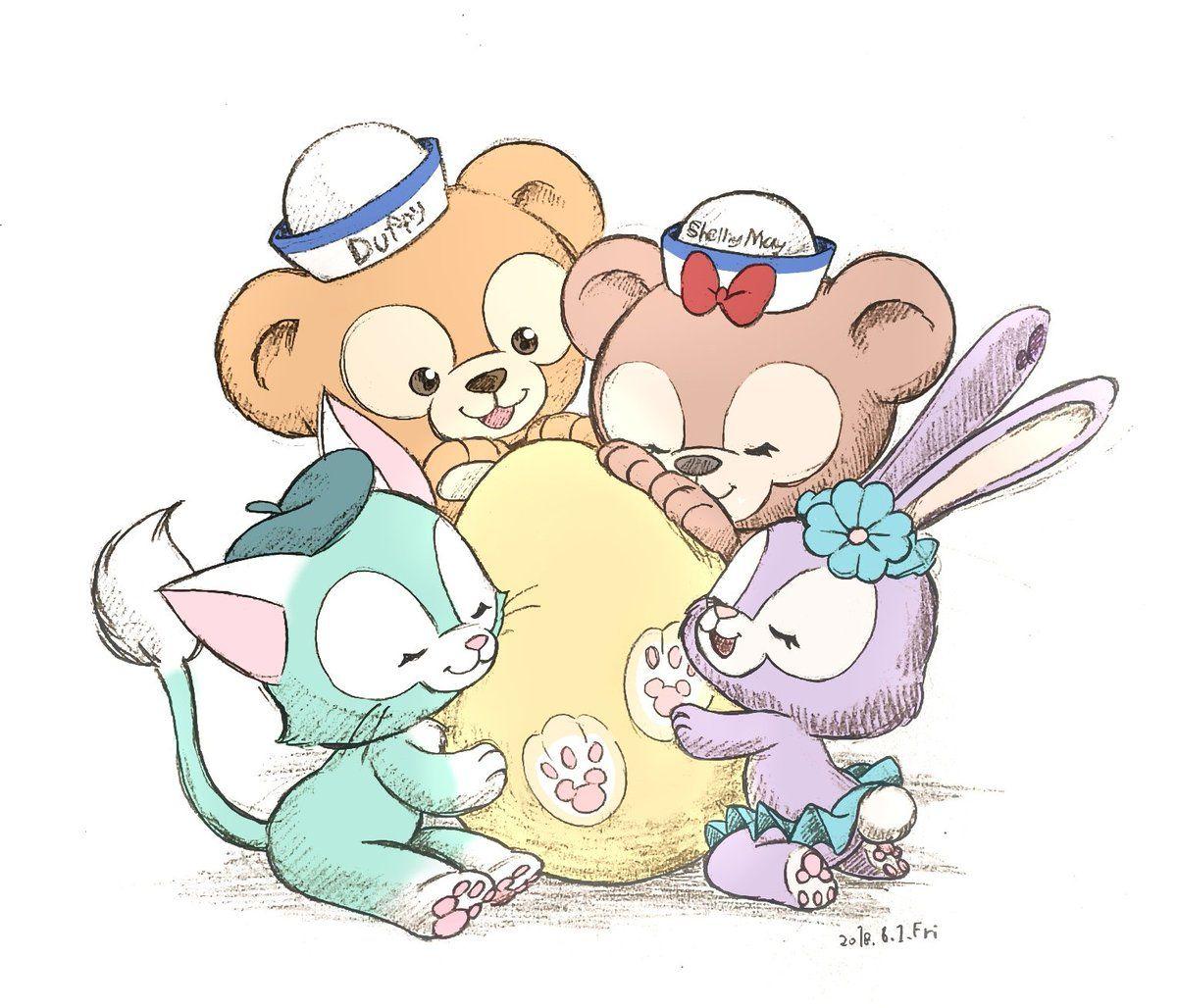 Duffy Friend おしゃれまとめの人気アイデア Pinterest Yuuuukiiii ディズニーキャラのイラスト ディズニー ジェラトーニ ディズニー イラスト かわいい