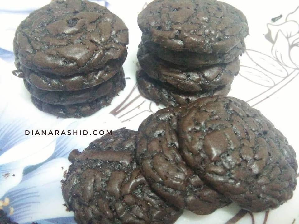 Resepi Brownies Cookies Yang Sedap Dan Rangup Diana Rashid Resepi Brownies Brownies Brownie Cookies