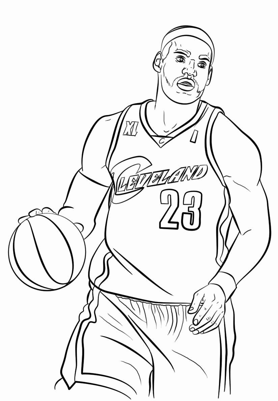 Lebron James Coloring Page Elegant Free Printable Nba National Basketball Association Coloring Pag Sports Coloring Pages Coloring Pages For Kids Coloring Pages