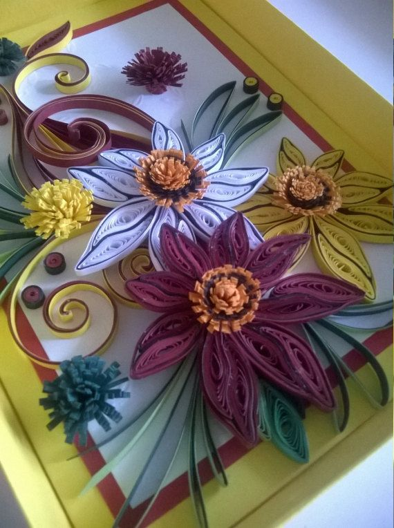 quilled birthday card quilling card greeting card handmade