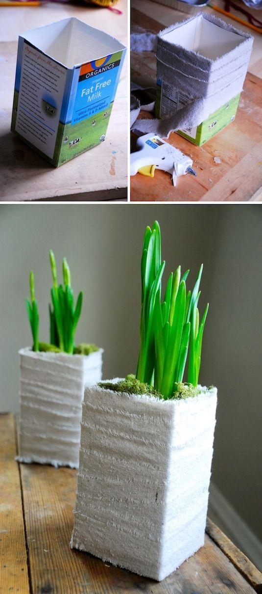 Creative Garden Container Ideas 20 | Milchkuh, Leinen und Selber machen