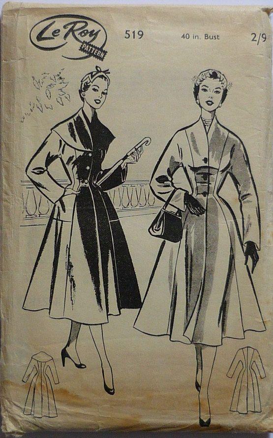 Vintage Sewing pattern. Le Roy 519. 1950s by IsellVintagePatterns