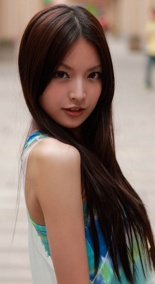 The dainty asian woman