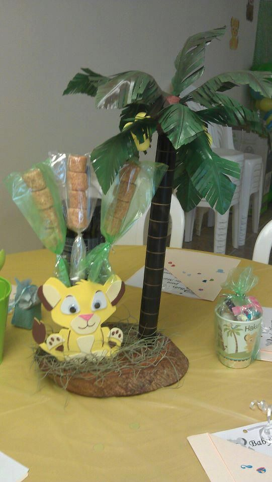 Lion king centerpiece party decorations and ideas