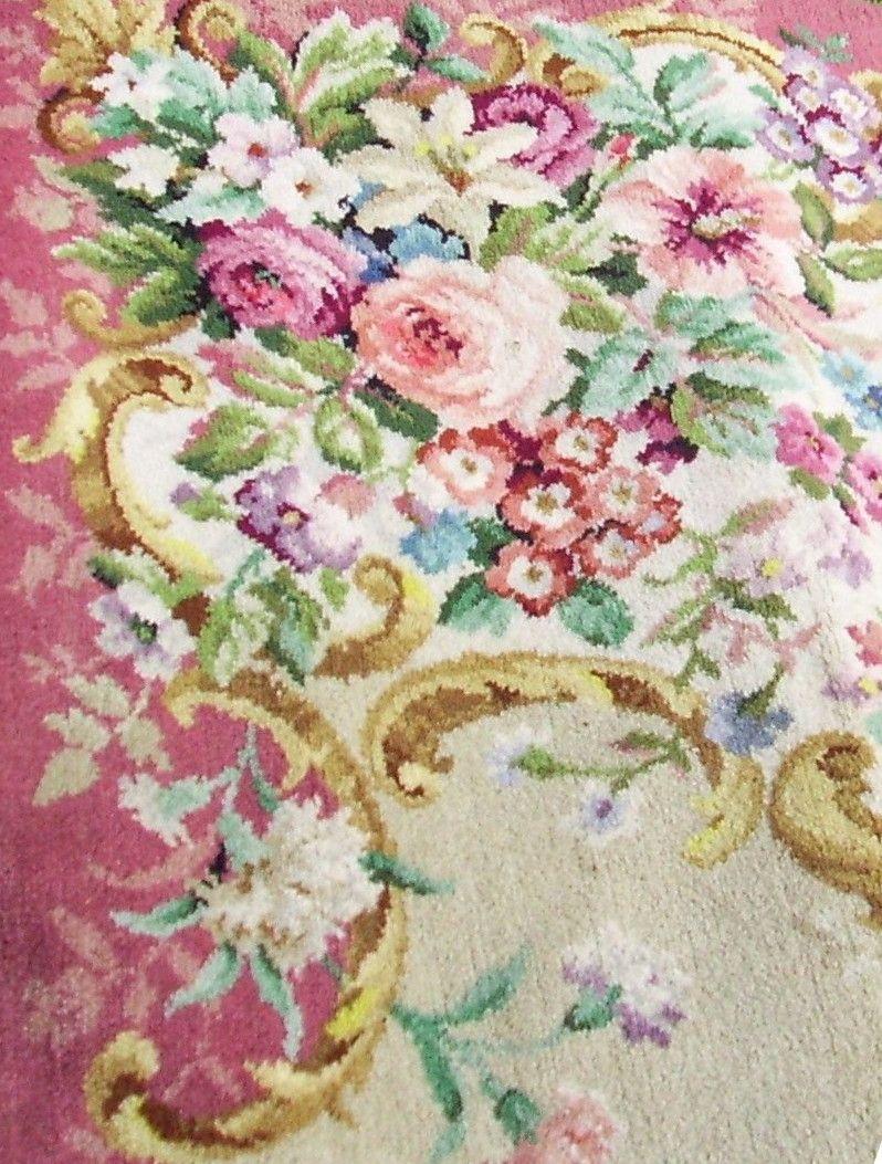 Vintage Floral Swags Axminster Rug
