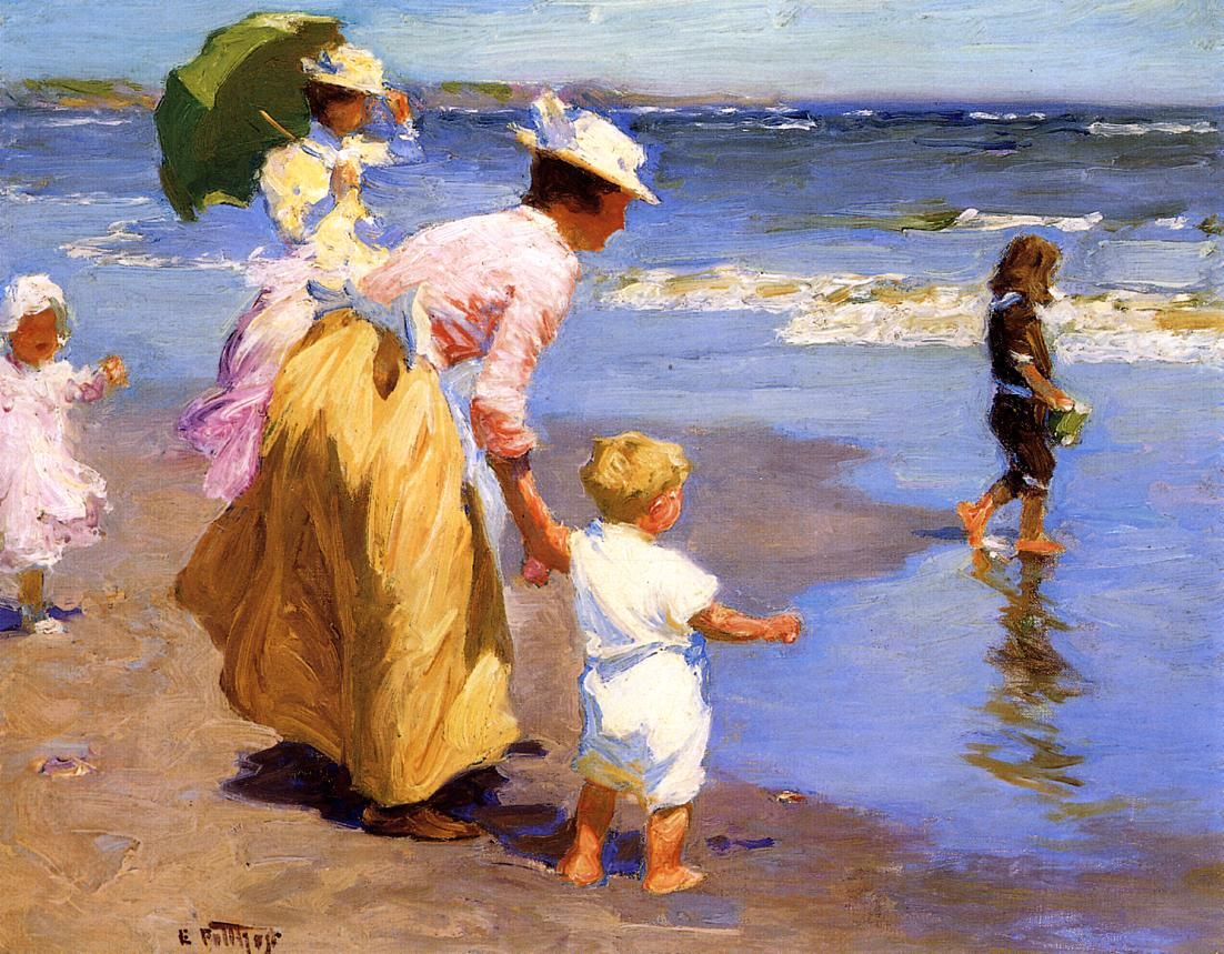At the beach edward potthast this actually seems like it
