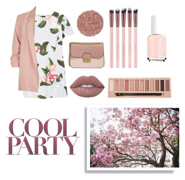 """""""Party girl"""" by typicallylena ❤ liked on Polyvore featuring MANGO, River Island, MICHAEL Michael Kors, L.A. Girl, Illamasqua, Spring2017 and monochromepink"""