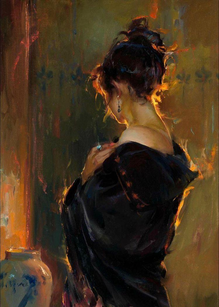 oil portrait #portrait Wenn ein Lied... - saraswebsite2s Webseite!