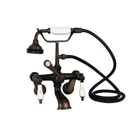Barclay Rustic Oil Rubbed Bronze 3 Handle Bathtub And Shower