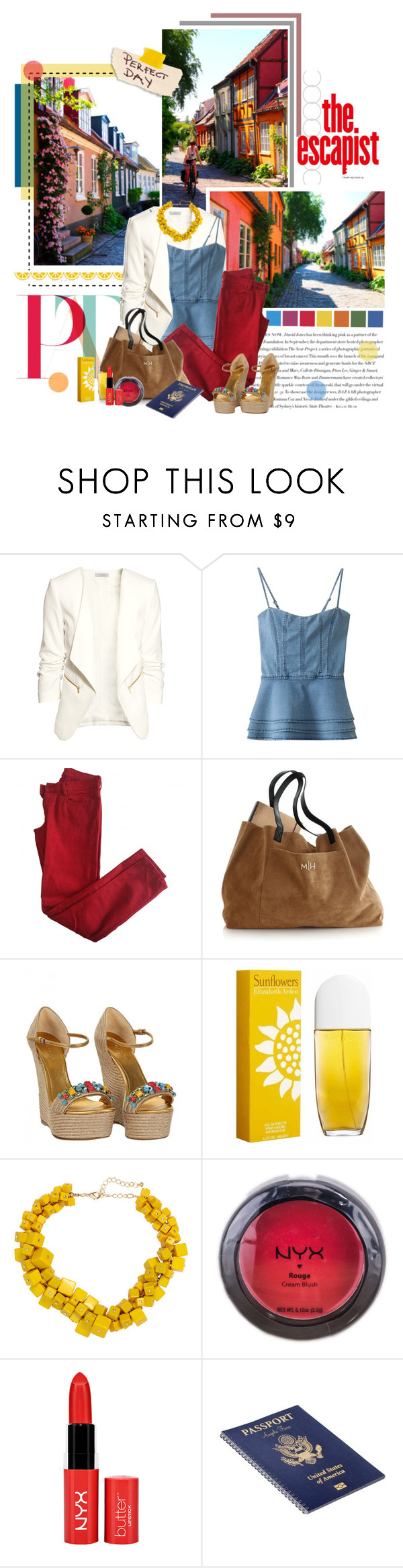 """""""Finding Happiness"""" by frouweisblume ❤ liked on Polyvore featuring Envi, H&M, Comptoir Des Cotonniers, Gucci, Elizabeth Arden, NYX and country"""